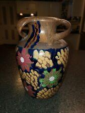 Antique Majolica Slip Paint Carl Gebauer German Art Nouveau Pottery Vase 1920's