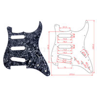 Gray Black Pearl Pickguard SSS 3 Ply for Fender Strat Stratocaster Guitar Parts