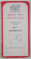 Old 1978 OS Ordnance Survey N Ireland One-Inch Third Series Map 7 Enniskillen