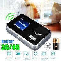 Portable 4G LTE Wifi Router Mobile Modem 3560mAh Hotspot SIM Card Slot Unlocked