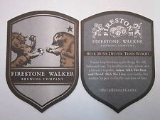 Beer Brewery Coaster ~ FIRESTONE WALKER Brewing Co ~ Beer Runs Deeper Than Blood