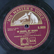 78rpm WEBSTER BOOTH oh maiden my maiden / serenade - student prince