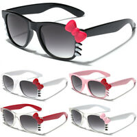 Hello Kitty Womens Ladies Sunglasses Bow Tie Party Glasses Black White Pink Red