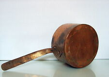 "c.1880 Polish-Ukrainian antique Wrough-copper pan Hebrew insc."" Sarah L."""