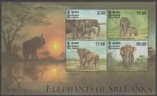Sri Lanka postfris 1998 MNH block 71 - Olifanten / Elephants (S2293)