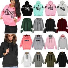 Damen Kaputzenpullover Langarm Pullover Pulli Kapuze Hoodie Sweatshirts Jacke DE