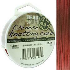 Knotting Cord 1.5mm 5 Meter Burgundy