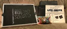 Vintage Hasbro Lite Brite with My Little Pony Sheets, Object Sheets, and Pegs