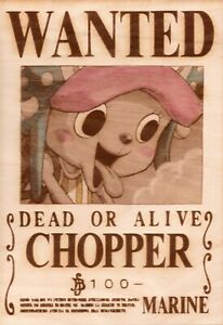 One Piece - Chopper Wooden Wanted Poster (Color)
