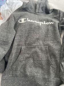 Boys Champion Hoodie XL Charcoal Grey