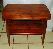 Solid Walnut Mid Century End Table / Side Table by Bissman  (T585)