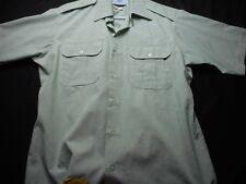DSCP 15 1/2 Green Short Sleeve Button Uniform ROTC Men's Shirt