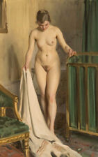 Anders Zorn In the Bedroom 1918   Nude   Wall Art  Canvas