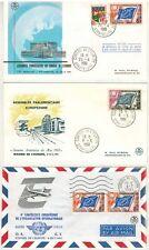 1961//3x ENVELOPPES/AIR MAIL/FDC 1°JOUR//CONSEIL DE L'EUROPE**TIMBRE DE SERVICE