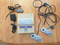 Super Nintendo SNES Console System With 2 OEM Controllers Authentic Working