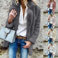 Womens Warm Coat Solid Cardigan Jacket Coat Parka Outerwear Long Outwear Winter