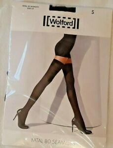Wolford Fatal 80 Seamless Stay-Up Size Small NEW