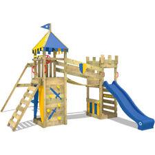 WICKEY Smart Fort Climbing Frame kids garden playground slide doubleswing