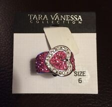 Tara Vanessa Collection Pink Buckle Ring; Size 6 **NEW**