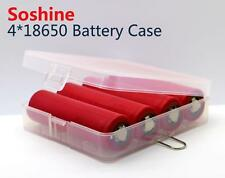 New Soshine 4x 18650 Battery Box Battery Case ( Support protected battery )