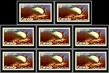 8x Canada 1980 Endangered Wild Life Fish Mint Fv Face $1.36 Mnh Rare Stamp Lot