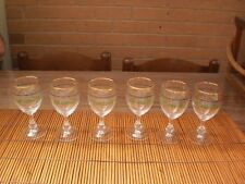 LUMINARC FRENCH IRISH COFFEE BY CRISTAL D'ARQUES -DURAND CRYSTAL WINE GLASSES X6