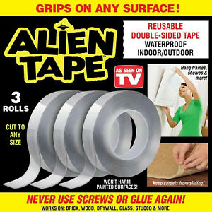 Double-Sided Reusable Washable Alien Tape Non-Adhesive Multifunctional 3 cm Wide