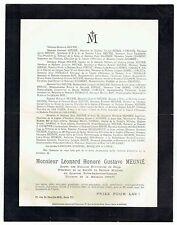 Avis de Décès Gustave Meunié - Titulaire Médaille 1870/71 - Bois Giroult 1927