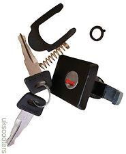 ukscooters VESPA TOOLBOX LOCK BLACK TWO KEYS PX LML EFL GLOVEBOX NEW TOOL BOX