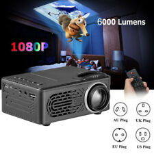 6000 lumens Multimedia 1080p vídeo HD HDMI USB LED Wi-Fi Proyector Home Cinema