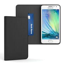 Tasche für Samsung Galaxy A3 (2015) Cover Handy Schutz Hülle Case Etui Schwarz