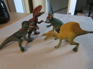 Schleich 4x Dinosaurier Mc Donalds T-Rex Spinosaurus Gigantosaurus Velociraptor