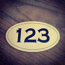 Engraved Sign Office Room Number Door Street Plate House Hotel Adhesive backing
