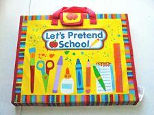 Alex Let's Pretend School Display Scene with Stickers Clock Folder Toy Decor Set