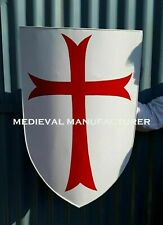 X-Mas Medieval Crusader Knight Foam Shield With Red Cross Coat Of Arms Larp cd