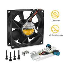 PQ224 Acousti DustPROOF 80mm Fan Low noise case cooling 8cm