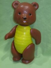 """New listing Vintage 1970's Plastic Jointed Strung 10"""" Bear Doll Figure w/ Honey Bee Torso"""