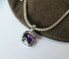 John Hardy - Amethyst Pendant and Sterling Silver Necklace - Stunning!