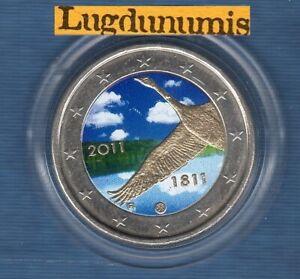 2 euro Commémo Couleur Color Finlande 2011 Banque de Finlande Finland
