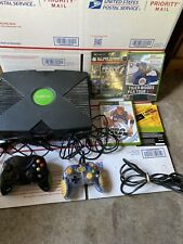 TESTED & WORKING! Original Xbox Console System Bundle with 3 Games 2 Controller