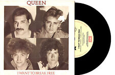 "QUEEN - I WANT TO BREAK FREE - 7"" 45 VINYL RECORD PIC SLV 1984"