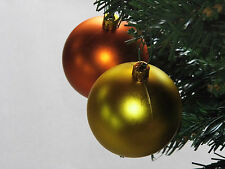 Set 18 palle palline plastica oro rame d 6 cm addobbi albero natale general