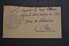 lettre 1914/18 cachet centre d'instruction grenadiers bombardiers MILLY