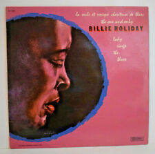 BILLIE HOLIDAY Unique Chanteuse Blues LP VINYLE 33T Vinyl 30 CV 1266 Musidisc