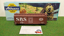 WAGON TRAIN 40' BOX CARS marron S.P.&S. échelle 1/87ème HO fabricant ATHEARN