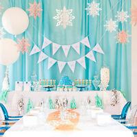 GC- 6Pcs/Set 3D Hollow Snowflake Paper Hanging Ornament Christmas Party Decor Po