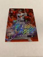 2018 TOPPS CHROME RED WAVE REFRACTOR ROOKIE AUTOGRAPH RYAN McMAHON AUTO RC #/5