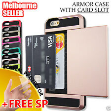 Apple iPhone 5, 5S Credit Card Slot Tough Armor Case Cover