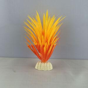 Artificial Plastic Green Plants Narcissus Water Grass Fish Tank Aquarium Decor