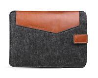 PU Deep Grey Leather Felt Laptop Sleeve Bag Case For HP IBM Macbook 13 13.3''
